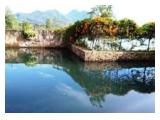 kolam pemancingan depan villa ruby atas dan delima bawah